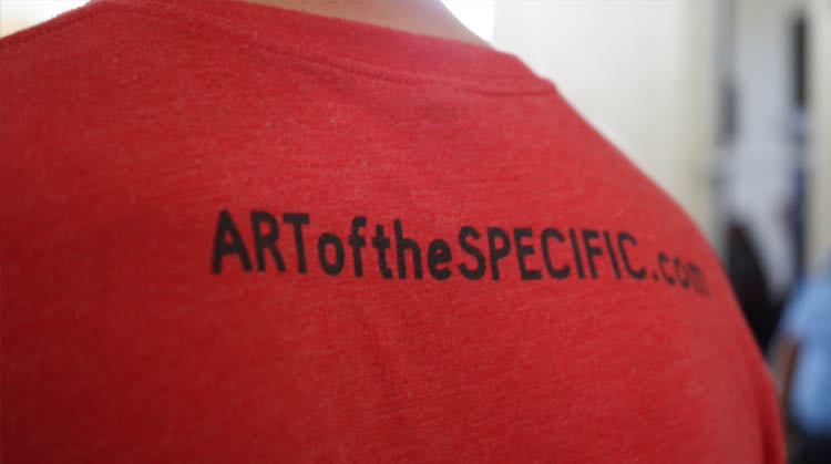 Shirt with TheARtofSpecific.com